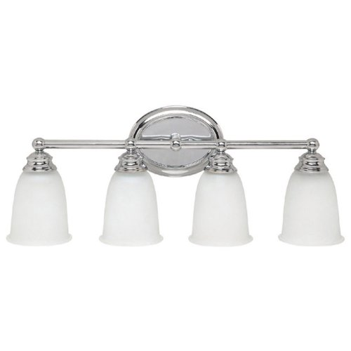 Capital Lighting 1084CH-132 4-Light Vanity Fixture, Chrome Finish with Acid Washed (132 Capital Lighting)