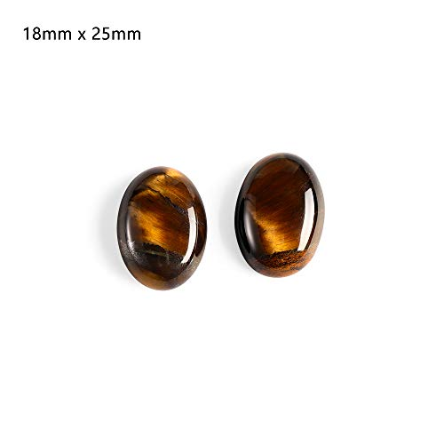 (Yellow Tiger Eye Cabochon Bead | Natural Stone No Hole Fit Handicrafts Jewelry | Women Men Jewelry Accessories (1pc))