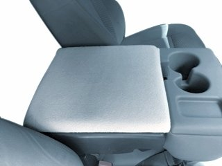 Auto Console Covers- Compatible with the Ford F-150 Truck 2002-2019 Center  Console Armrest Cover Fleece  Light Gray