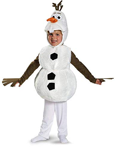 Disguise Baby's Disney Frozen Olaf Deluxe Toddler Costume,White,Toddler S -
