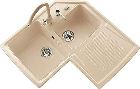Vasca Da Bagno Harmony : Lavello da cucina vasche con gocciolatoio da cm angolare