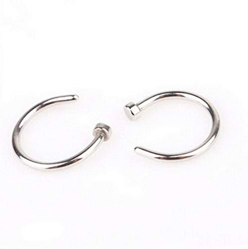 Tomikko Fashion 2pcs Stainless Steel Open Hoop Nose Ring Earring Body Piercing Jewelry | Model ERRNGS - 11772 |