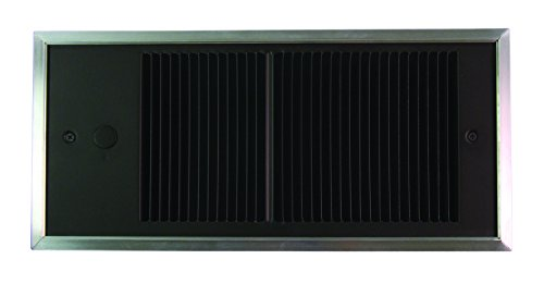 TPI E4410TRP Series 4400 Low Profile Commercial Fan Forced Wall Heater with Wall Box, Single Pole in-Built Thermostat, 1000 W, 8.33 - Pole Forced Fan Single