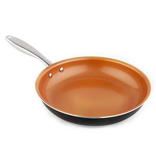 MICHELANGELO 11 Inch Copper Frying Pan with Ultra Nonstick Ceramic Titanium Coating, 11 Inch Frying Pan Nonstick, Ceramic Skillet - 11 Inch