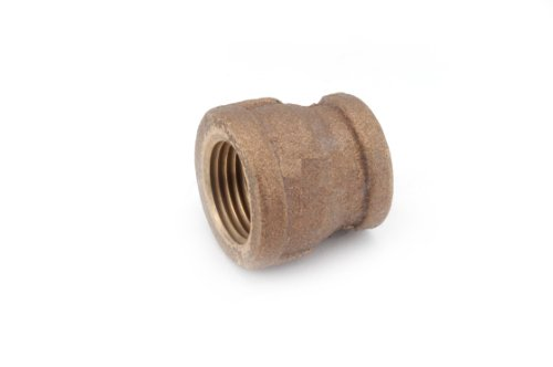 Threaded Red Brass Coupling - Anderson Metals 38119 Red Brass Pipe Fitting, Reducing Coupling, 2