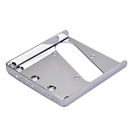 Bridge Loading (Healifty Top-Loading Guitar Bridge Plate Replacement for Fender Telecaster TL 85.5mm (Silver))