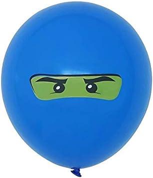 12inch Latex Balloon Party Deco Home Deco Favor Ninja set for les gar/çons enfants Ninjago th/ème anniversaire Balloon Party Balloon Set 10pcs Color : Black