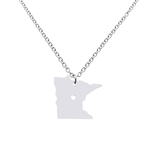 Minnesota State Charm - Minnesota State Necklace Pendant Country Map MN Pendant Charm Jewelry Gift for Women Teens