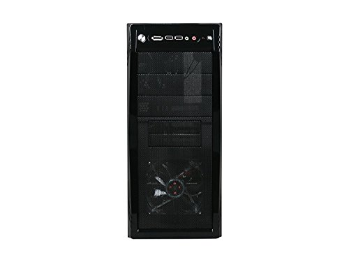 ROSEWILL ATX Mid Tower Gaming Computer Case, Gaming Case with Blue LED for Desktop / PC and 3 Case Fans Pre-Installed, Front I/O Access Ports  (CHALLENGER) by Rosewill (Image #1)