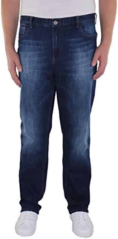 Dżinsy męskie w dużych rozmiarach z elastycznym ściągaczem Marc: Odzież