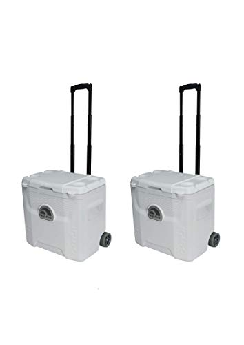 (Igloo White 42 Can Marine Quantum Cooler with Wheels (28 Quart/Pack of 2))