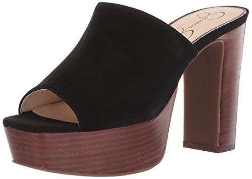 Jessica Simpson Women's CAMREE Sandal, Black, 7.5 M US (Platforms Jessica Leather)