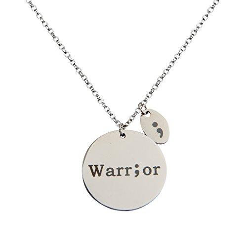 zuobao-hand-stamped-disc-fighter-warrior-semicolon-necklace-silver-warrior