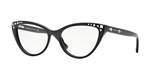 Versace VE3191 Eyeglass Frames GB1-54 - Black
