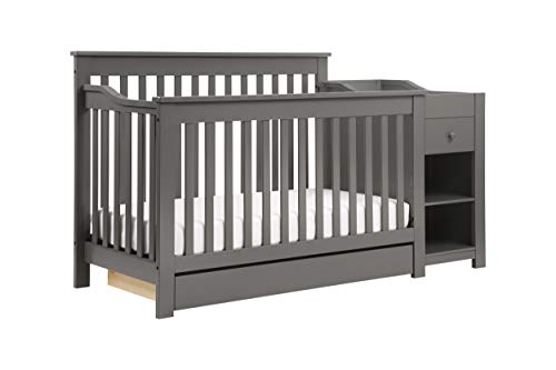(DaVinci Piedmont 4-in-1 Crib & Changer Combo, Slate)
