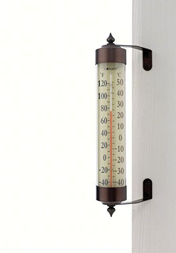 Grande View Rain Gauge (CONANT T16BP Grande View Thermometer, Bronze Patina)