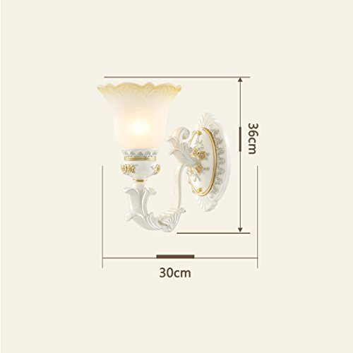 Edge To European Bedside Lamp Wall Lamp Stairway Aisle Corridor Retro Luxury Living Room Background Wall Creative Wall Lamp (Color : Single head) by Edge To (Image #4)