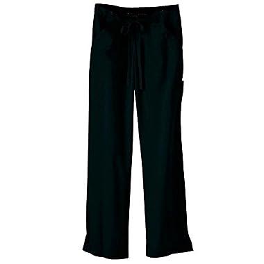 Ultra Soft Brand Scrubs - Premium Womens Junior Fit Cargo Pocket Scrub Pant, Black 36170-X-Small