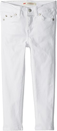 Brushed Denim Jeans (Levi's Toddler Girls' 710 Super Skinny Fit Soft Brushed Jeans, White, 3T)
