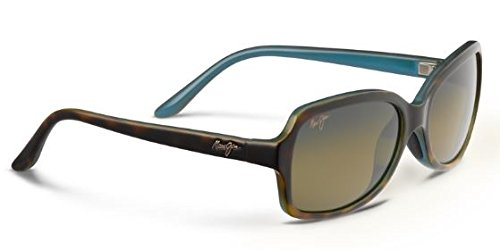 Maui Jim Cloud Break Polarized Sunglasses - Women's Tortoise with Peacock Blue / HCL Bronze One - Womens Jim Maui