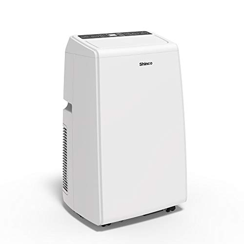 Shinco SPS5 10,000 BTU Portable Air Conditioner, 3-in-1 Floor AC Unit with Built-in Dehumidifier, Fan Mode, LED Display, Remote Control, Complete Window Mount Exhaust Kit for Rooms Up to 300 Sq. ft