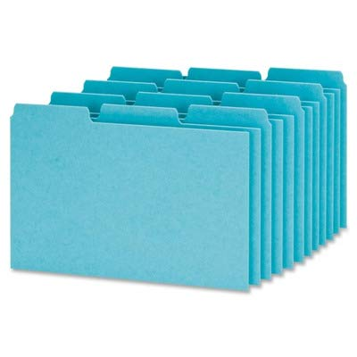 Oxford Pressboard Index Card Guide - Blank - 6quot; x 4quot; - 100 / Box - Blue Divider