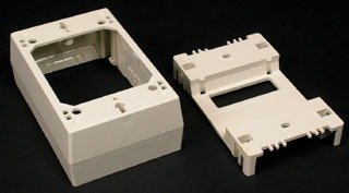Channel Devices (Wiremold 2348 PVC 1-Gang Deep 1-Channel Single-Channel Device Box 4-3/4 Inch x 3 Inch x 1-3/4 Inch)