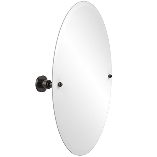 Allied Brass AP-91-ORB Frameless Oval Tilt Mirror with Beveled Edge, Oil Rubbed Bronze