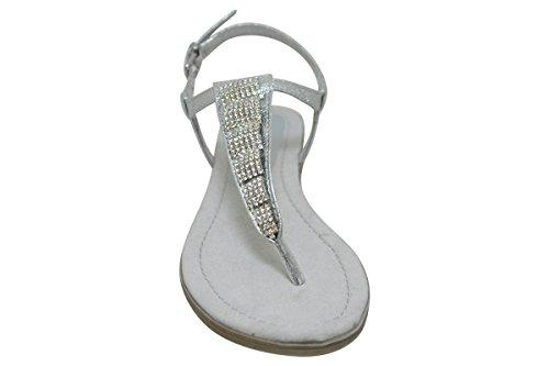Tozzi Con Silber silver Metallic Donna 28403 Marco Sandali Zeppa dCxwtnqA