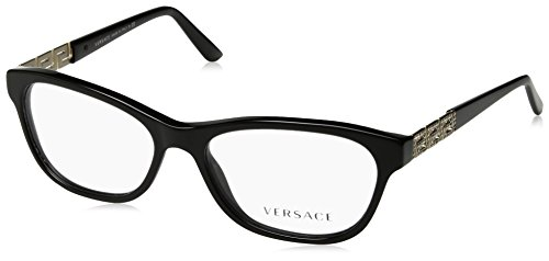 Versace VE3212B Eyeglass Frames GB1-52 - Black - For Versace Women Glasses Frames
