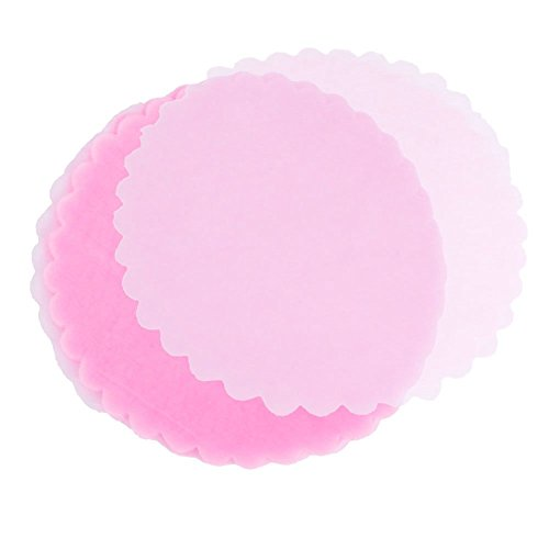 9'' Tulle Circles Wedding Favors Candy Net Lt. Pink, Pack of 100 by NST