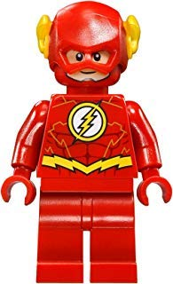 LEGO DC Comics Super Heroes Jusctice League Minifigure - Flash Gold Outline (76098) (Lego Minifigure Kid Flash)