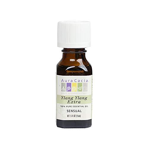 Aura Cacia Pure Ylang Ylang Extra Essential Oil | 0.5 fl. oz. | Cananga odorata
