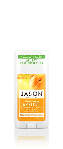 JASON Apricot Deodorant, 2.5 Ounce Stick, Pack of 3 ()
