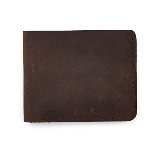 2011 Co Signers Card - Leather Bifold Wallet Slim, Rugged, Low-Profile Design, USA made, Handcrafted From Top Grain American Leathers, Holds 4-8 Cards, Minimalist, Excellent For Men And Women