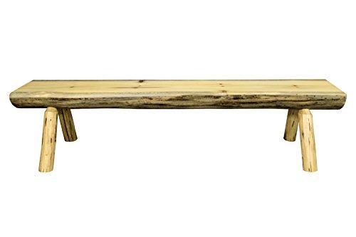 Montana Woodworks Montana Collection Wood Log Bench, 6 Foot, Exterior Finish