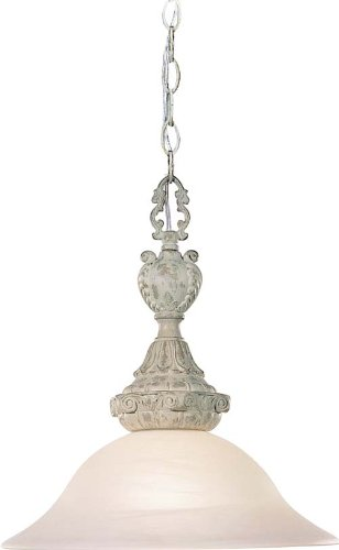 Volume Lighting V3680-11 Manchester 1 Light Castle Beige Pendant