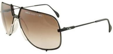 Amazon.com: Cazal anteojos de sol Targa 902 negro café ...