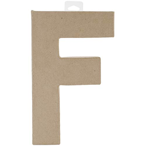 Paper Mache Letter F 8 X 5.5 Inches (2 Pack) -