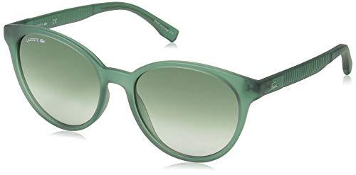 Lacoste Women's L887s Round Sunglasses, TRANSPARENT GREEN, 54.01 ()