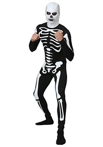 Cobra Kai Skeleton Costumes Spandex - Plus Size Karate Kid Skeleton Suit