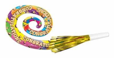 Congratulations Musical Blo-Loons Party Accessory (1 count) (4/Pkg)