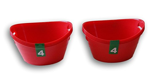Plastic Red Bowls Crafting Organization - 8 Pack -
