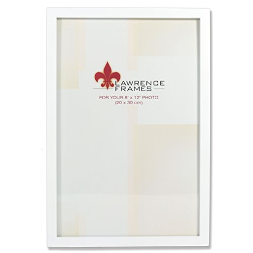 Lawrence Frames White Wood Picture Frame, Gallery Collection, 8 by 12-Inch by Lawrence Frames