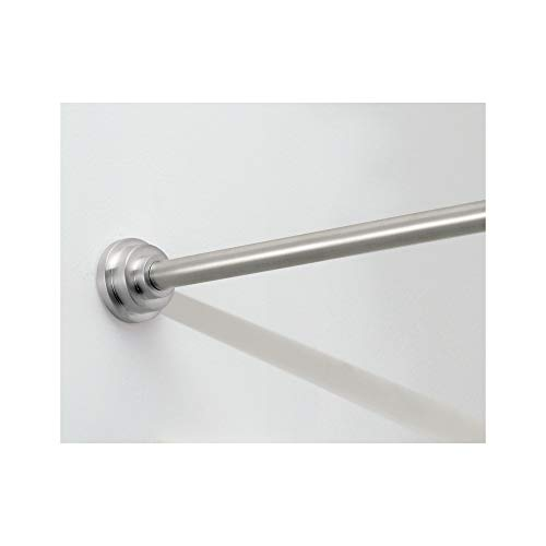 interDesign Astor Metal Tension, Adjustable Customizable Curtain Rod for Bathtub, Shower Stall, Closet, Doorway, 26-Inch to 42-Inch Brushed Stainless Steel