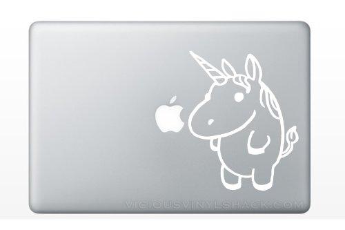 Fat Cute Unicorn  Vinyl MacBook Car Laptop Decal Stickers  K
