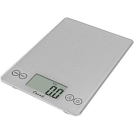 Escali Arti 15 Pound 7 Kilogram Digital Scale Shiny Silver