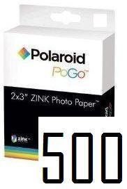 Polaroid Zink media 500 Pack Photo Paper for Polaroid Pogo Cameras and Printers