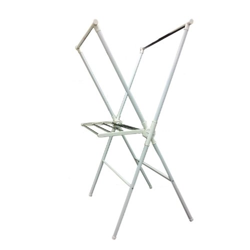 Ore International NR515WHT Folding Laundry Rack, White