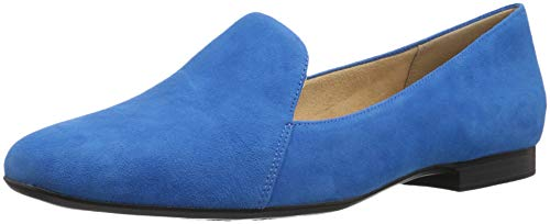 Naturalizer Women's Emiline Loafer Flat, Blue Suede, 8 M - Loafers Naturalizer Suede